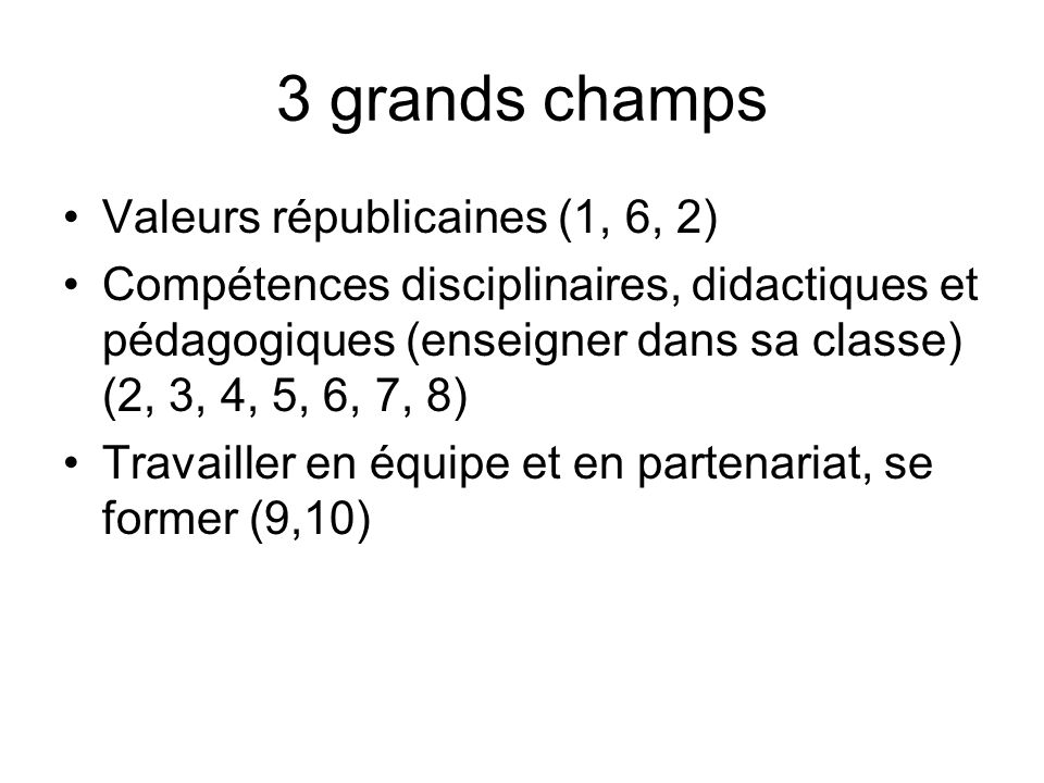 3 grands champs Valeurs républicaines (1, 6, 2)