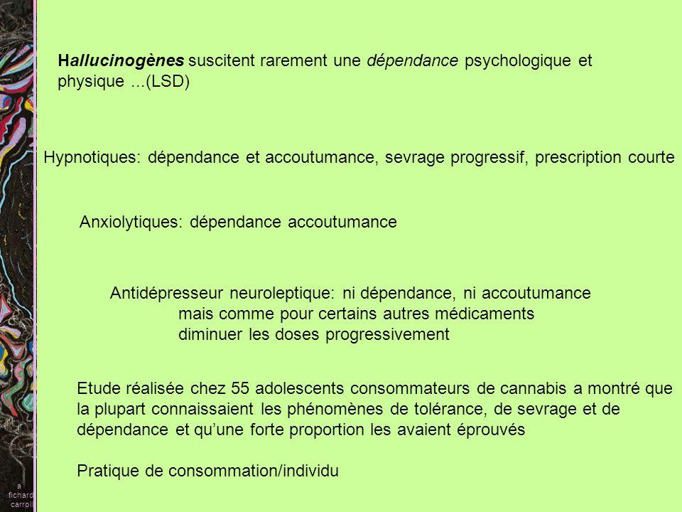 Anxiolytiques: dépendance accoutumance