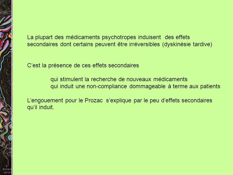 La plupart des médicaments psychotropes induisent des effets