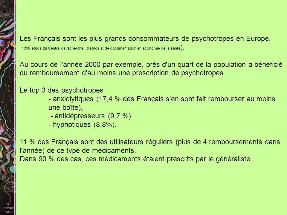 Le top 3 des psychotropes