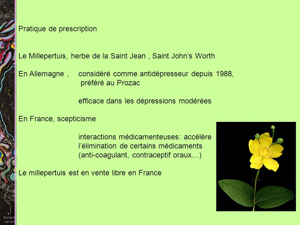 Pratique de prescription