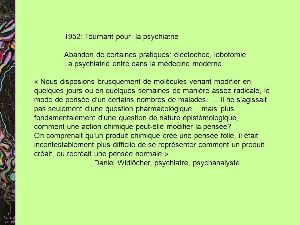 1952: Tournant pour la psychiatrie