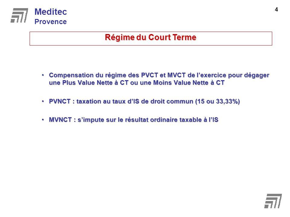 Meditec Régime du Court Terme Provence