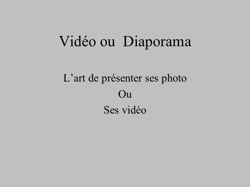 L'art de présenter ses photo Ou Ses vidéo