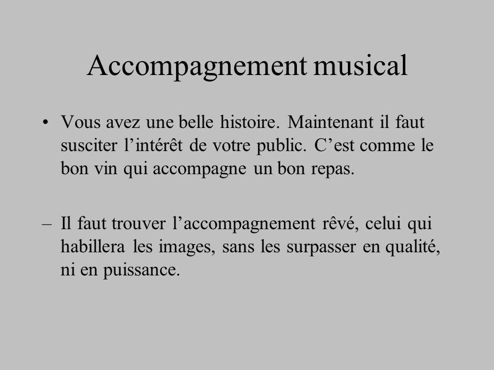 Accompagnement musical