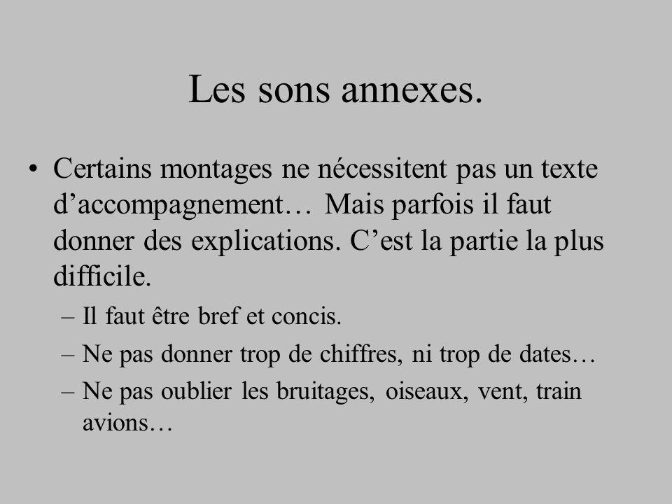 Les sons annexes.