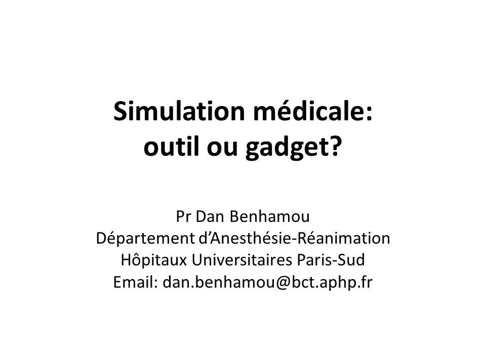 Simulation médicale: outil ou gadget