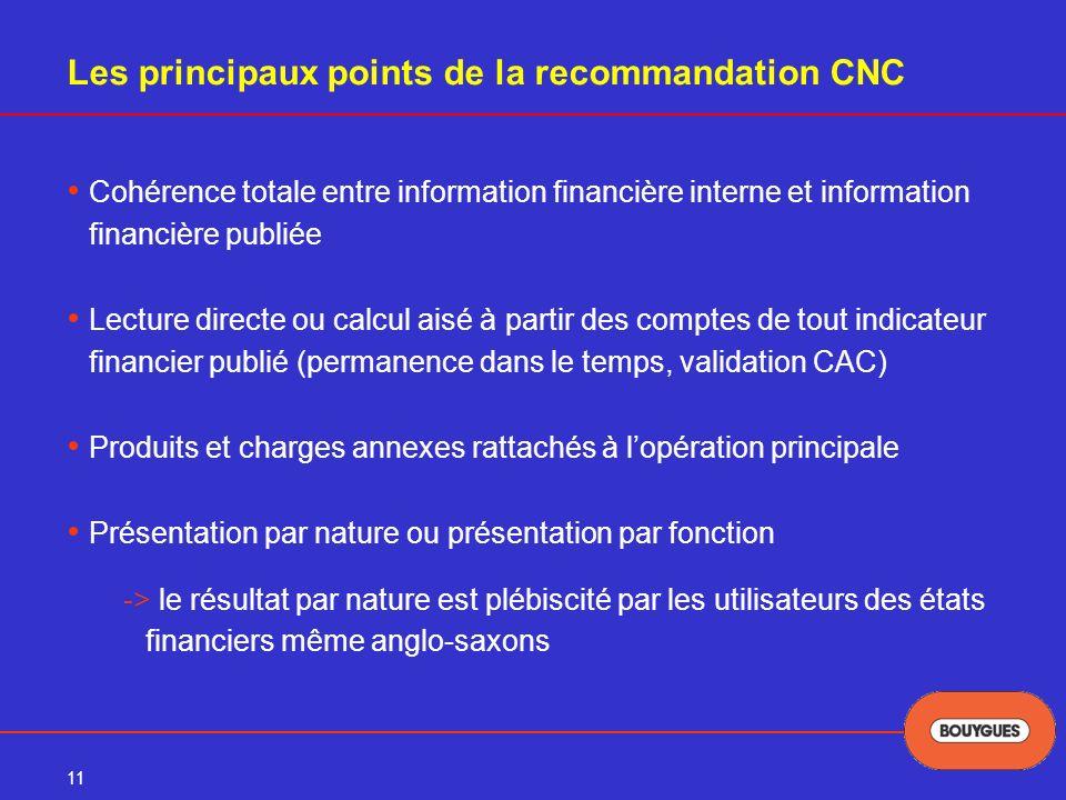Les principaux points de la recommandation CNC