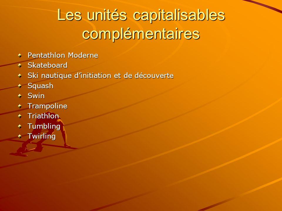 Les unités capitalisables complémentaires