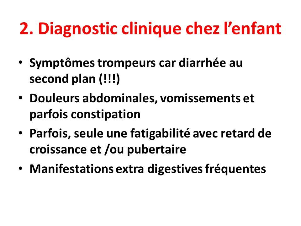 2. Diagnostic clinique chez l'enfant