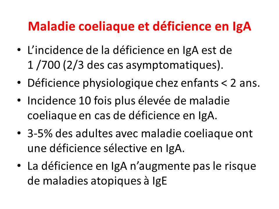 Maladie coeliaque et déficience en IgA