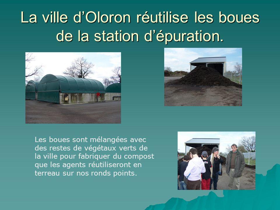 La ville d'Oloron réutilise les boues de la station d'épuration.
