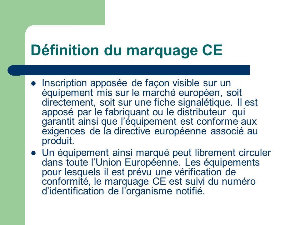 Définition du marquage CE
