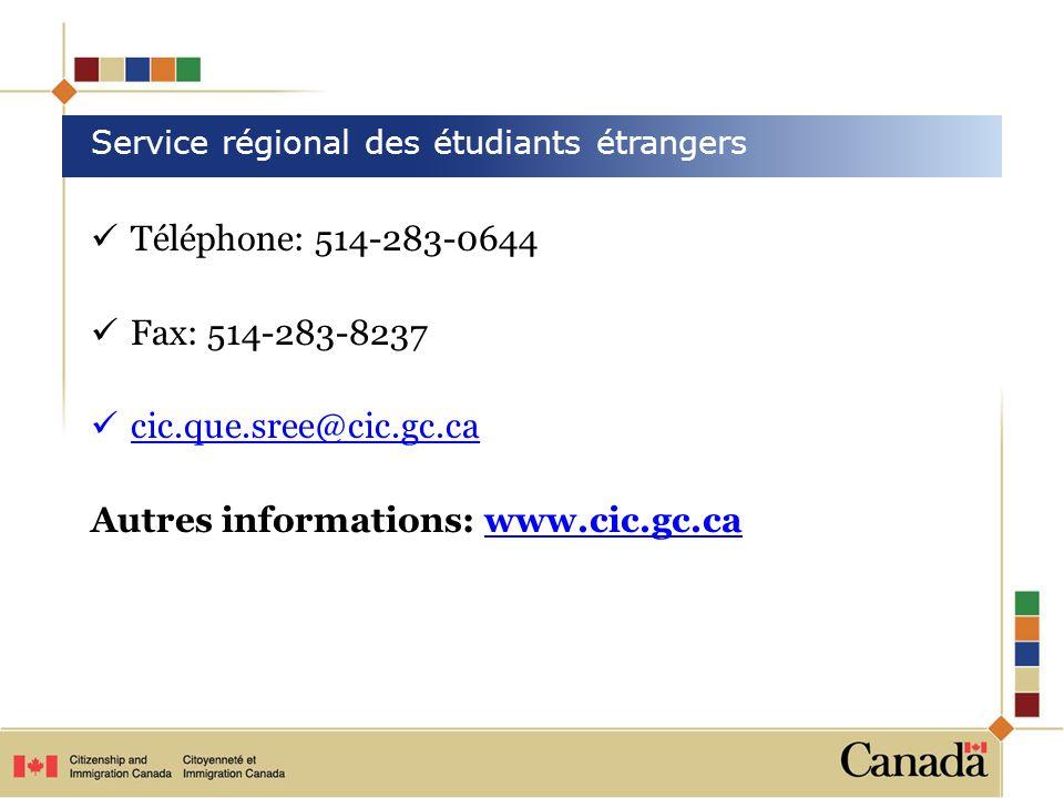 Service régional des étudiants étrangers