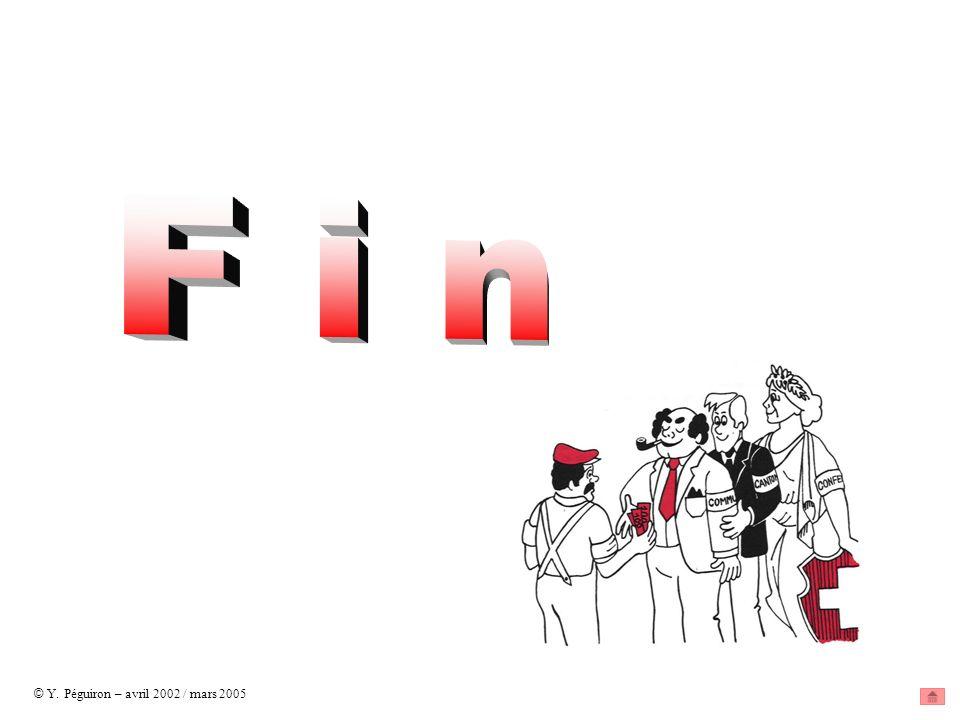 F i n © Y. Péguiron – avril 2002 / mars 2005