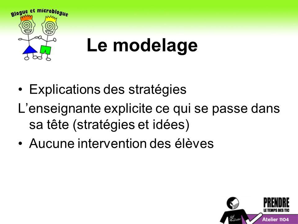 Le modelage Explications des stratégies