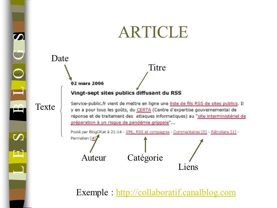 Exemple : http://collaboratif.canalblog.com