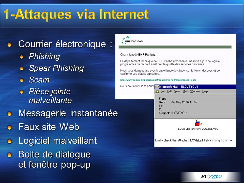1-Attaques via Internet