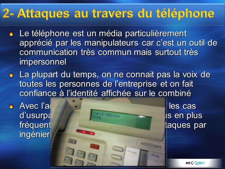 2- Attaques au travers du téléphone