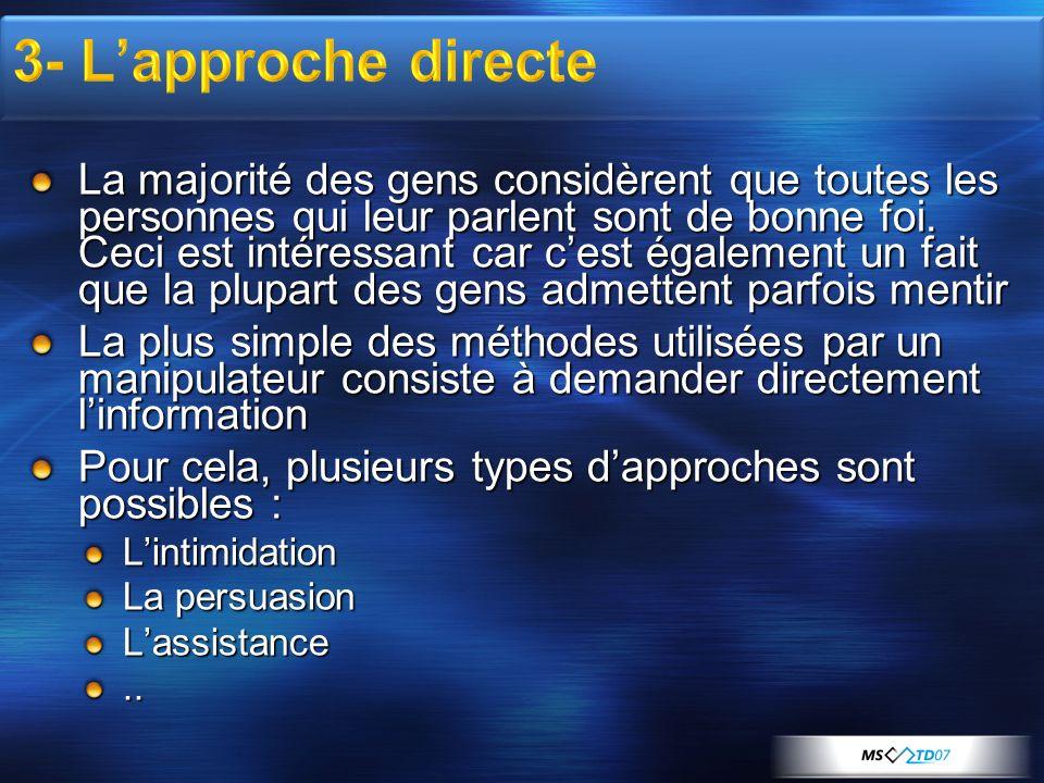 3- L'approche directe