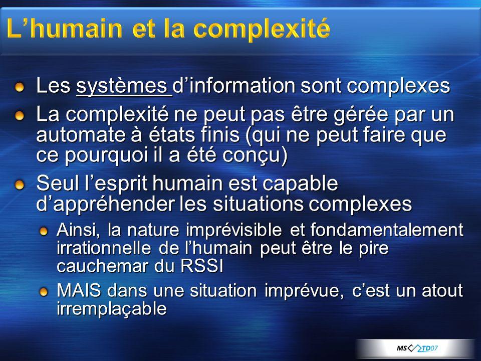L'humain et la complexité