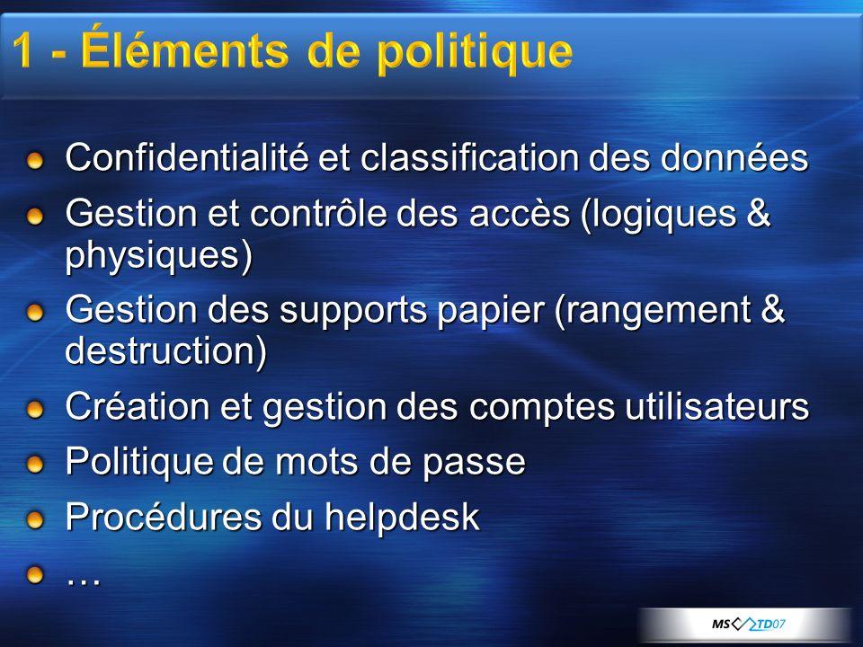 1 - Éléments de politique