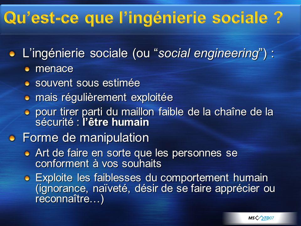 Qu'est-ce que l'ingénierie sociale