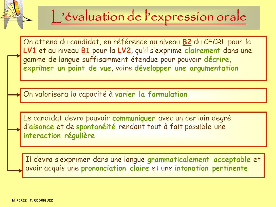 L'évaluation de l'expression orale