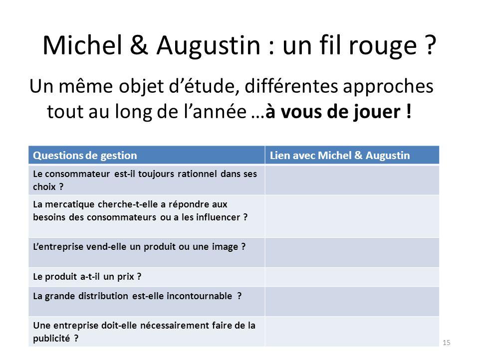 Michel & Augustin : un fil rouge
