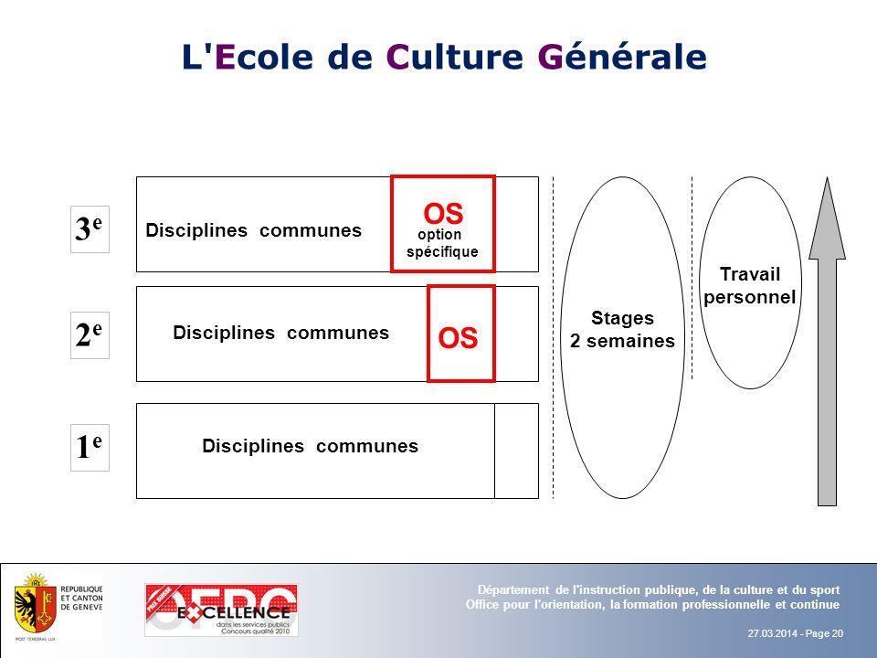 L Ecole de Culture Générale