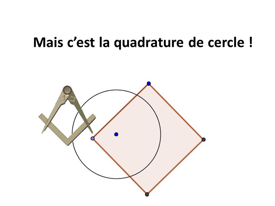 Mais c'est la quadrature de cercle !