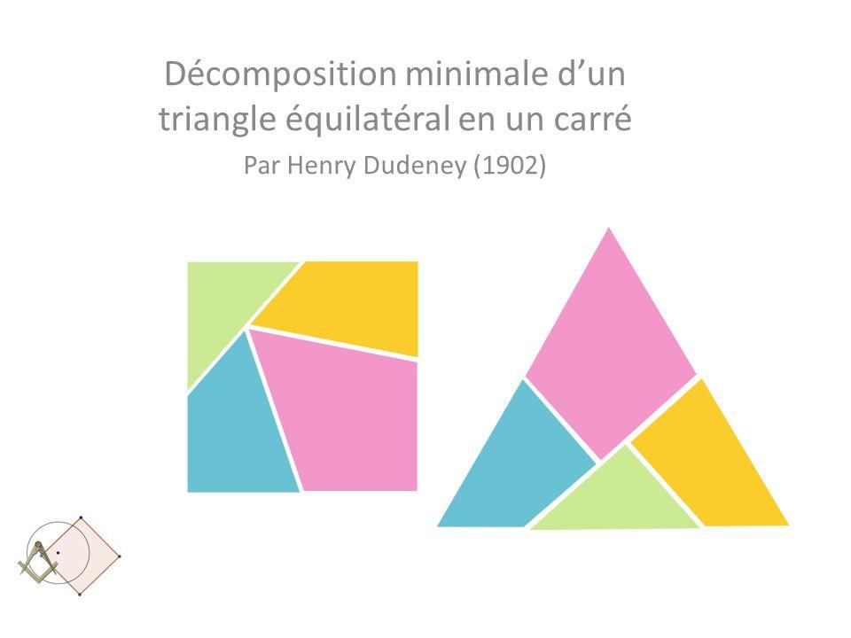 Décomposition minimale d'un triangle équilatéral en un carré