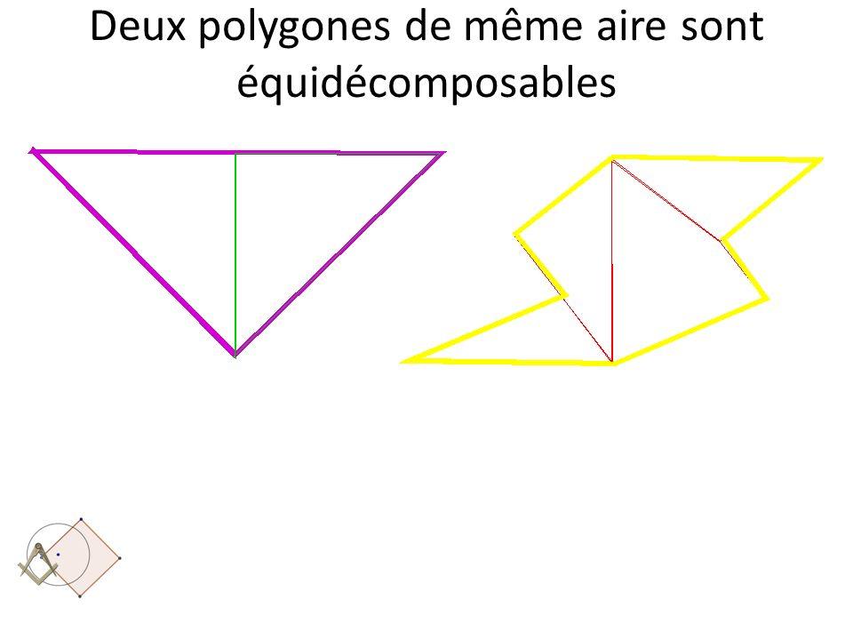 Deux polygones de même aire sont équidécomposables