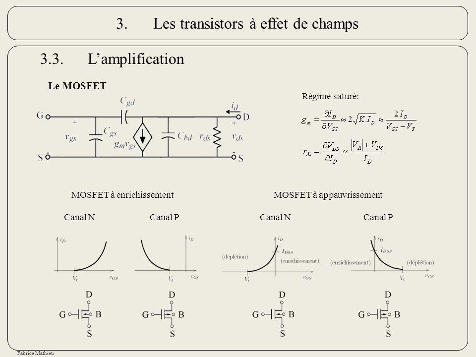 3. Les transistors à effet de champs