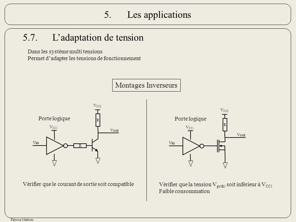 5.7. L'adaptation de tension