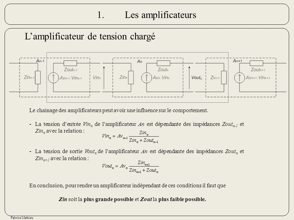 L'amplificateur de tension chargé