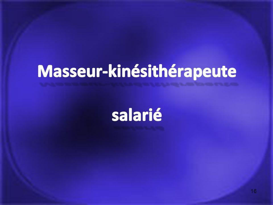 Masseur-kinésithérapeute salarié