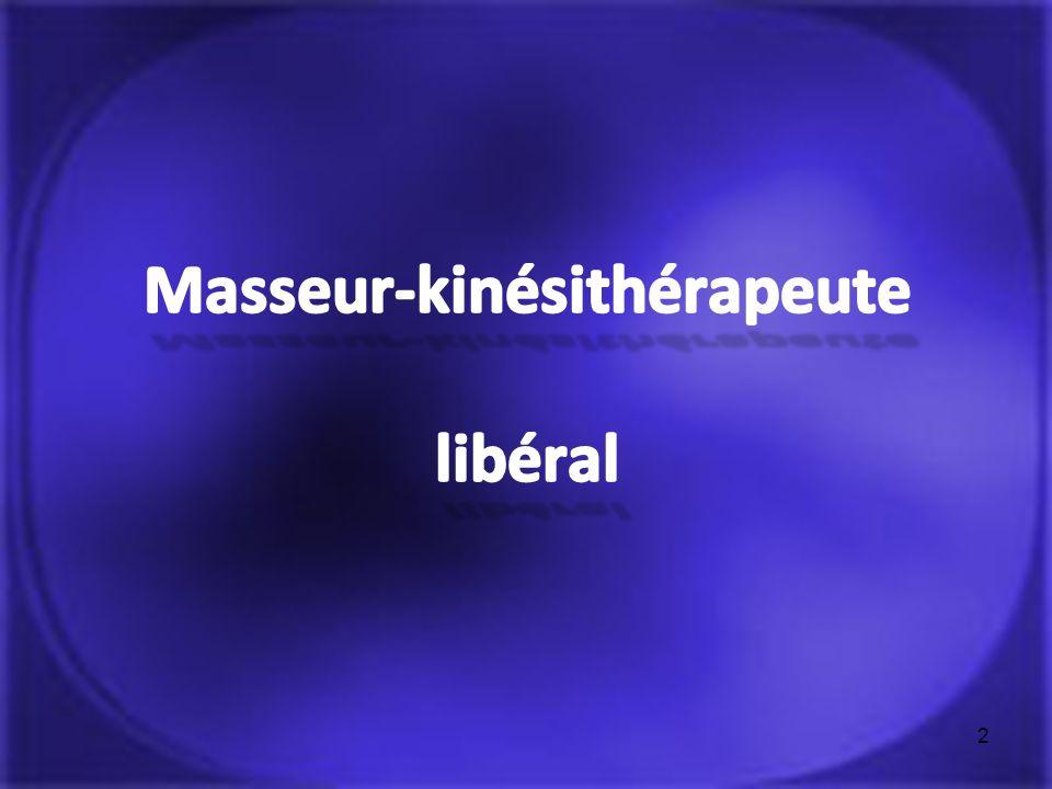 Masseur-kinésithérapeute libéral