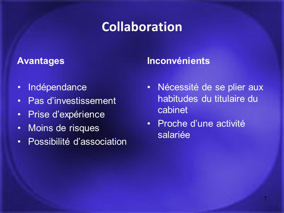 Collaboration Avantages Inconvénients Indépendance