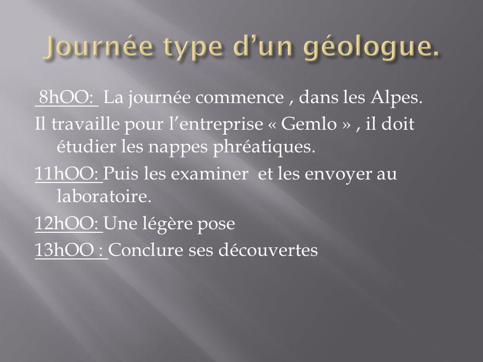 Journée type d'un géologue.