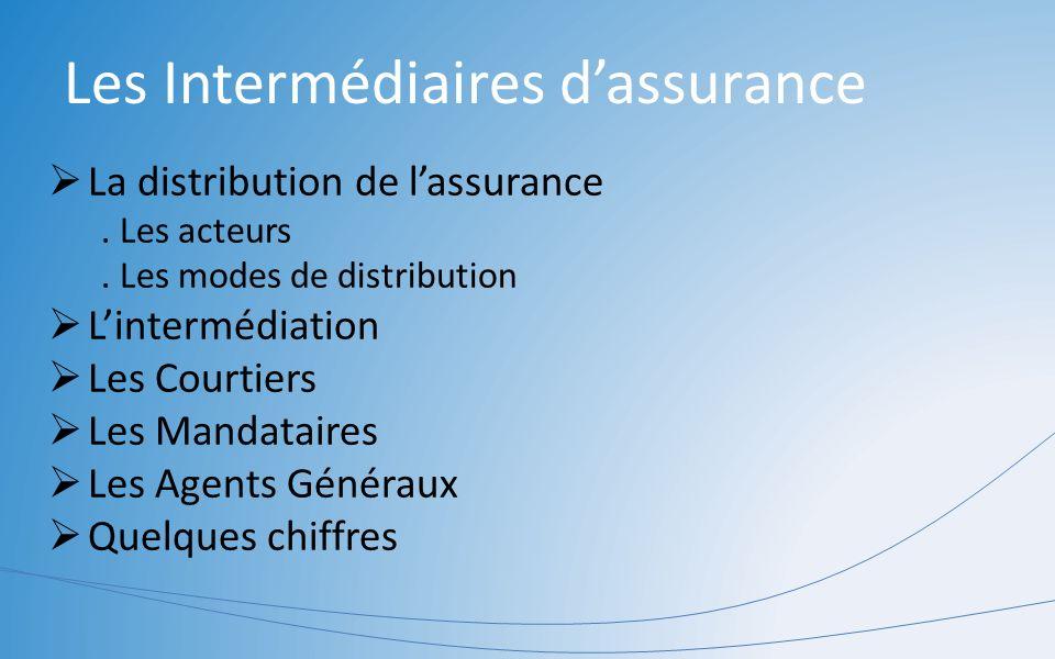 Les Intermédiaires d'assurance