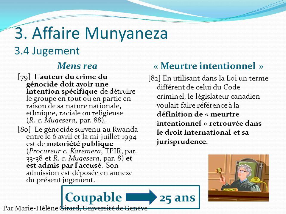 3. Affaire Munyaneza 3.4 Jugement