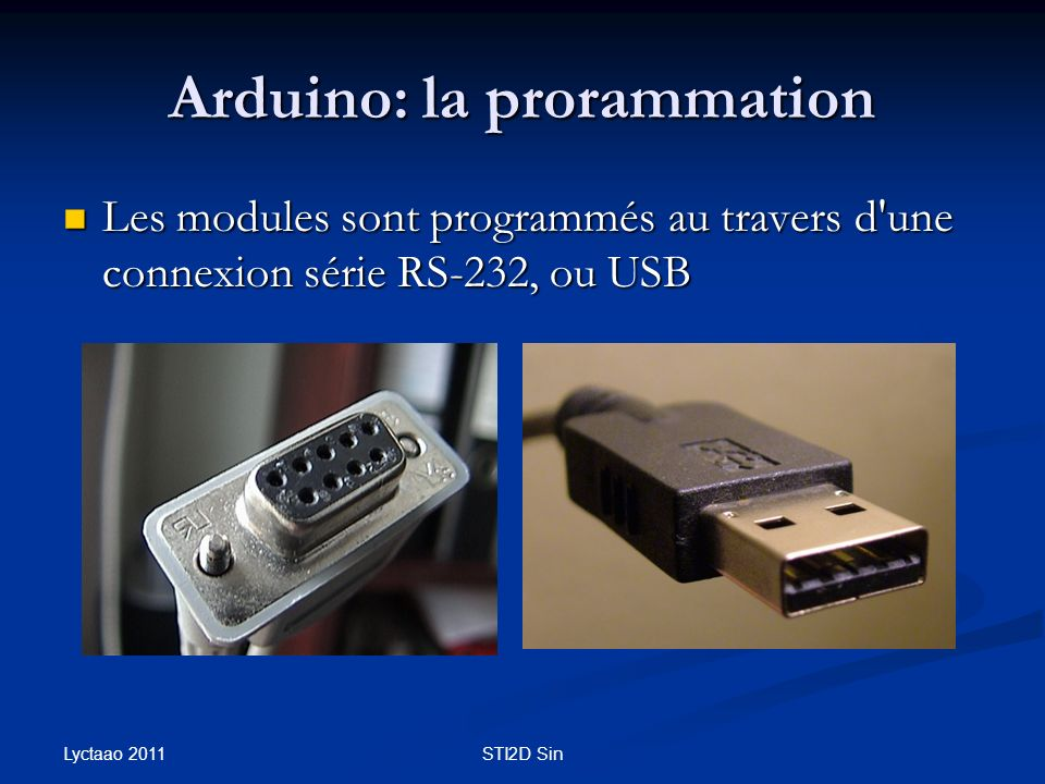 Arduino: la prorammation