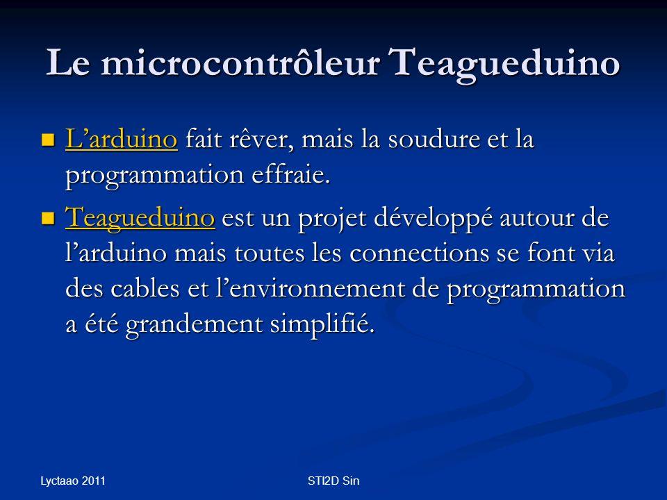 Le microcontrôleur Teagueduino