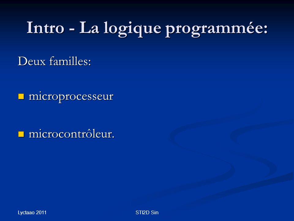 Intro - La logique programmée: