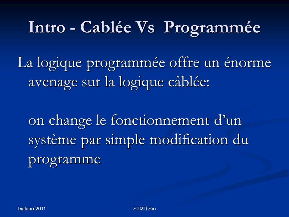 Intro - Cablée Vs Programmée