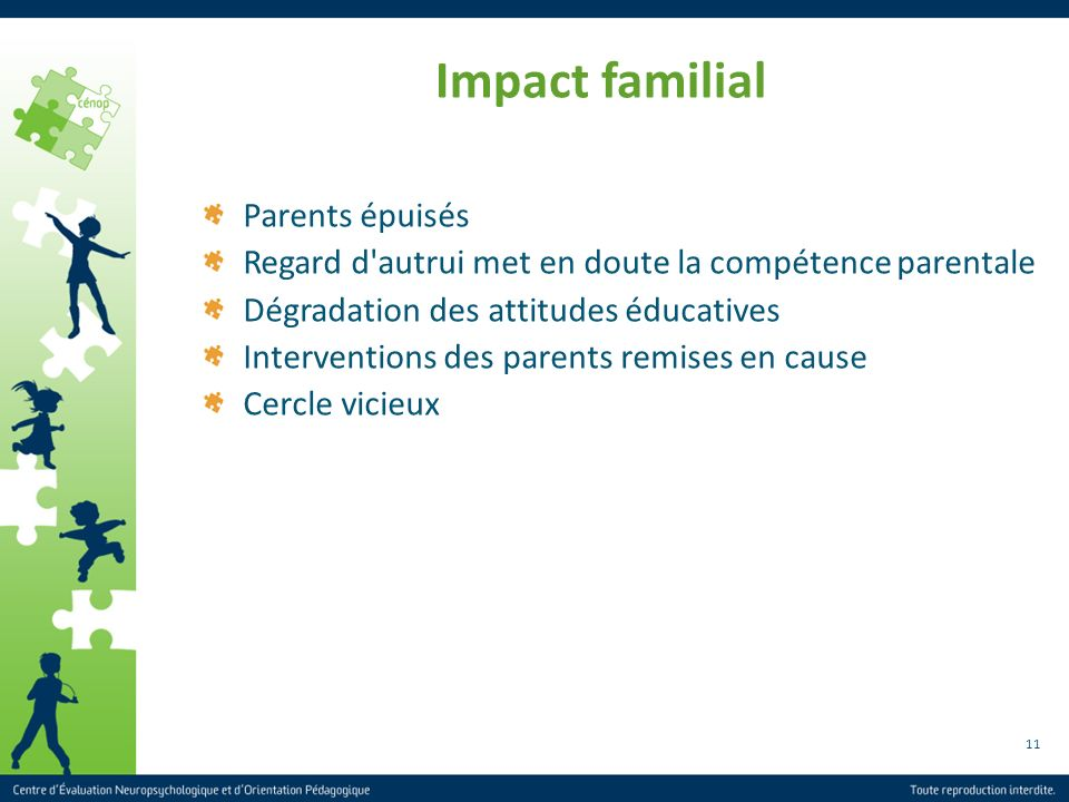Impact familial Parents épuisés