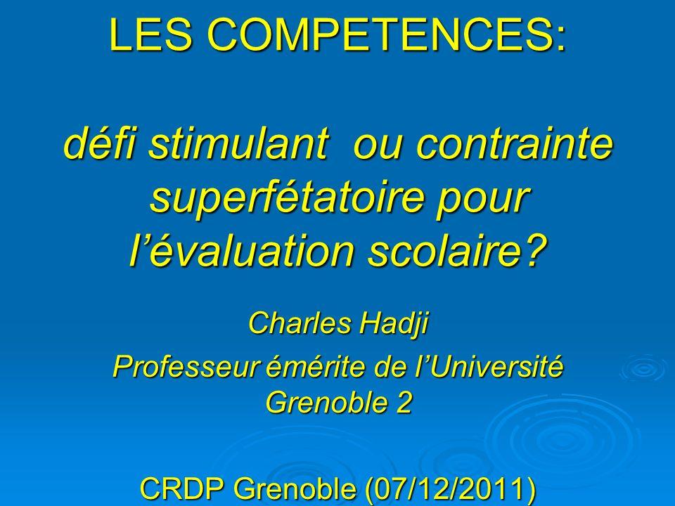 Professeur émérite de l'Université Grenoble 2