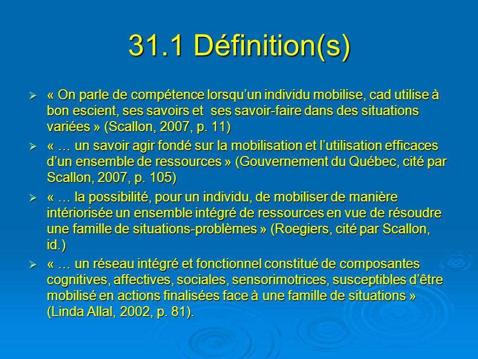 31.1 Définition(s)