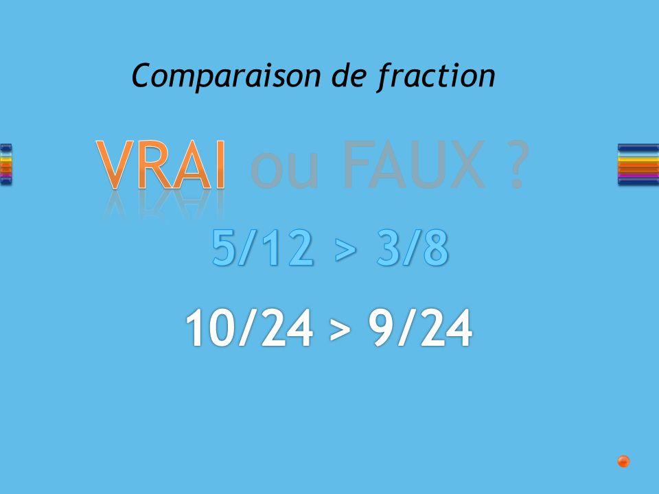 Comparaison de fraction